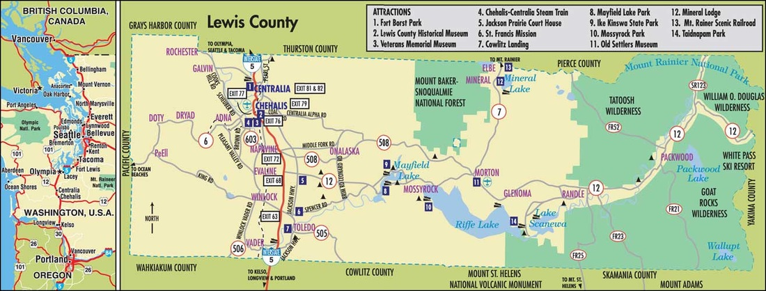 Lewis County Washington Map.Comparing Counties Washington State